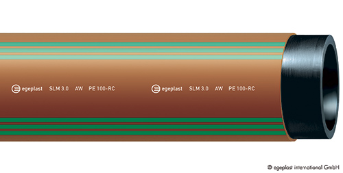 Tuyau polyéthylène PEHD PE100 SLM assainissement EGEPLAST
